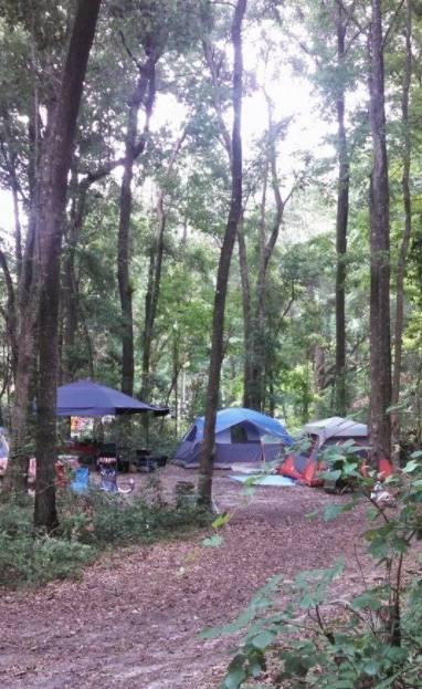 camping at ichetucknee state park