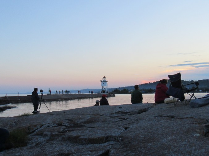 Waiting-For-Fireworks-at-Grand-Marais-MN